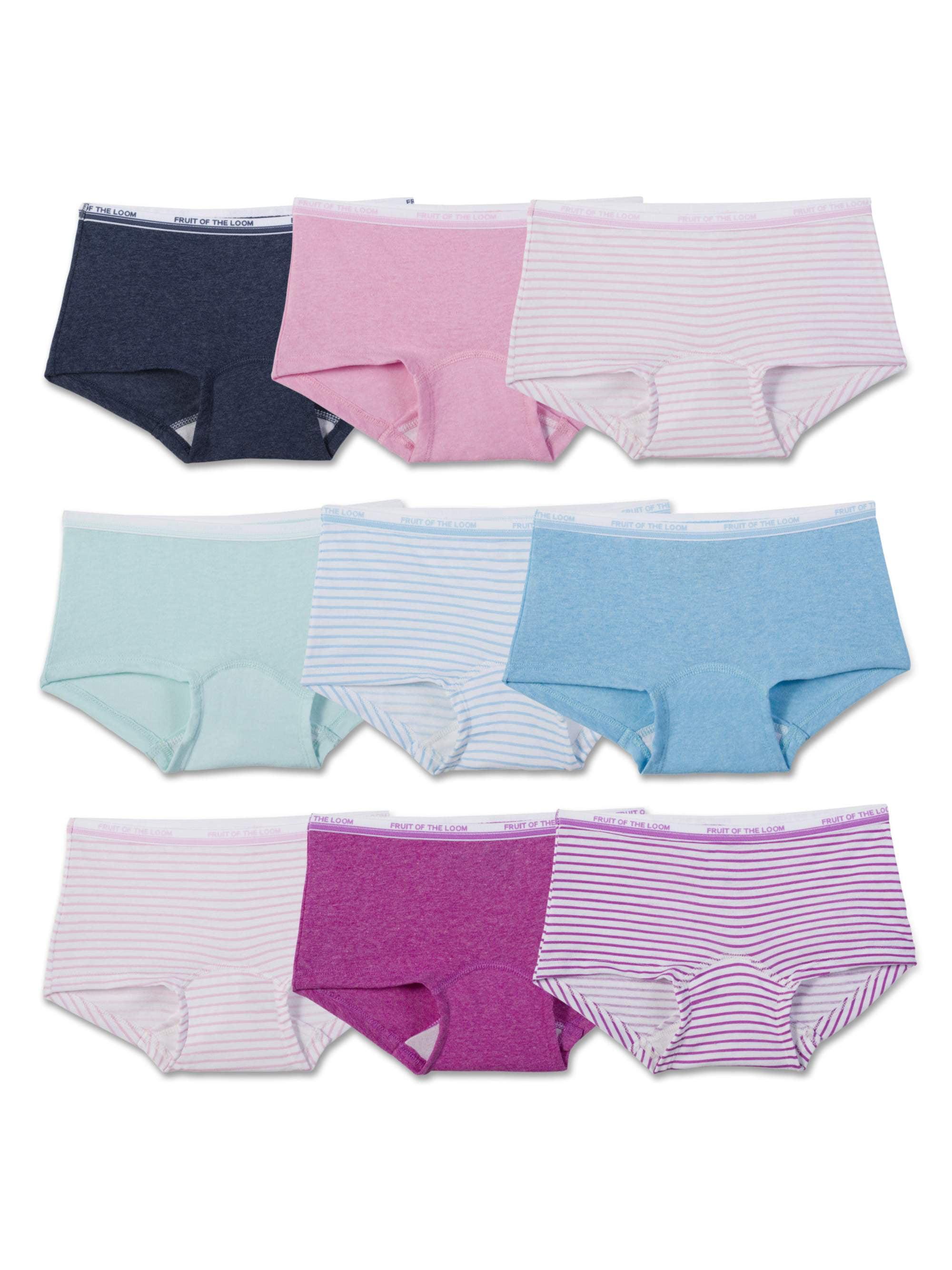 Assorted Heather Boy Shorts, 9 Pack (Little Girls & Big Girls)