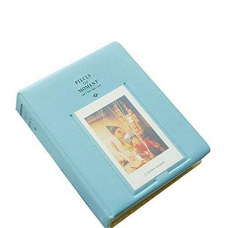 64 Pockets 3 Inch Piece of Moment Candy Color Fuji Instax Photo Mini Book Album or Name Card for Instax Mini 70 7s 8 25 50s 90 Film/ Pringo 231/ Fujifilm Instax SP-1/ Polaroid PIC-300P/ Z2300- (Blue) for $<!---->
