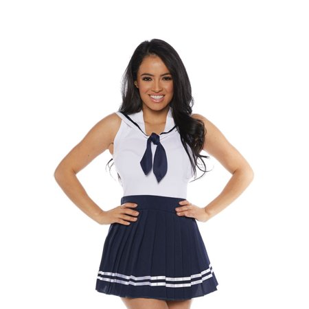 Sailor Skirt Set Adult Costume (Navy) (Womans Sailor Costume)