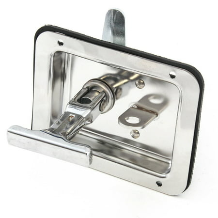Trailer Door Latch T-Handle Large Lock Stainless Keys Camper RV Truck  Toolbox