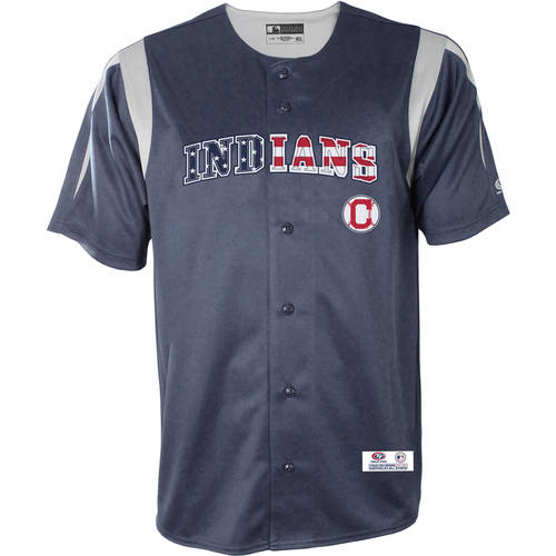 MLB Cleveland Indians Men's Americana Button Down Jersey
