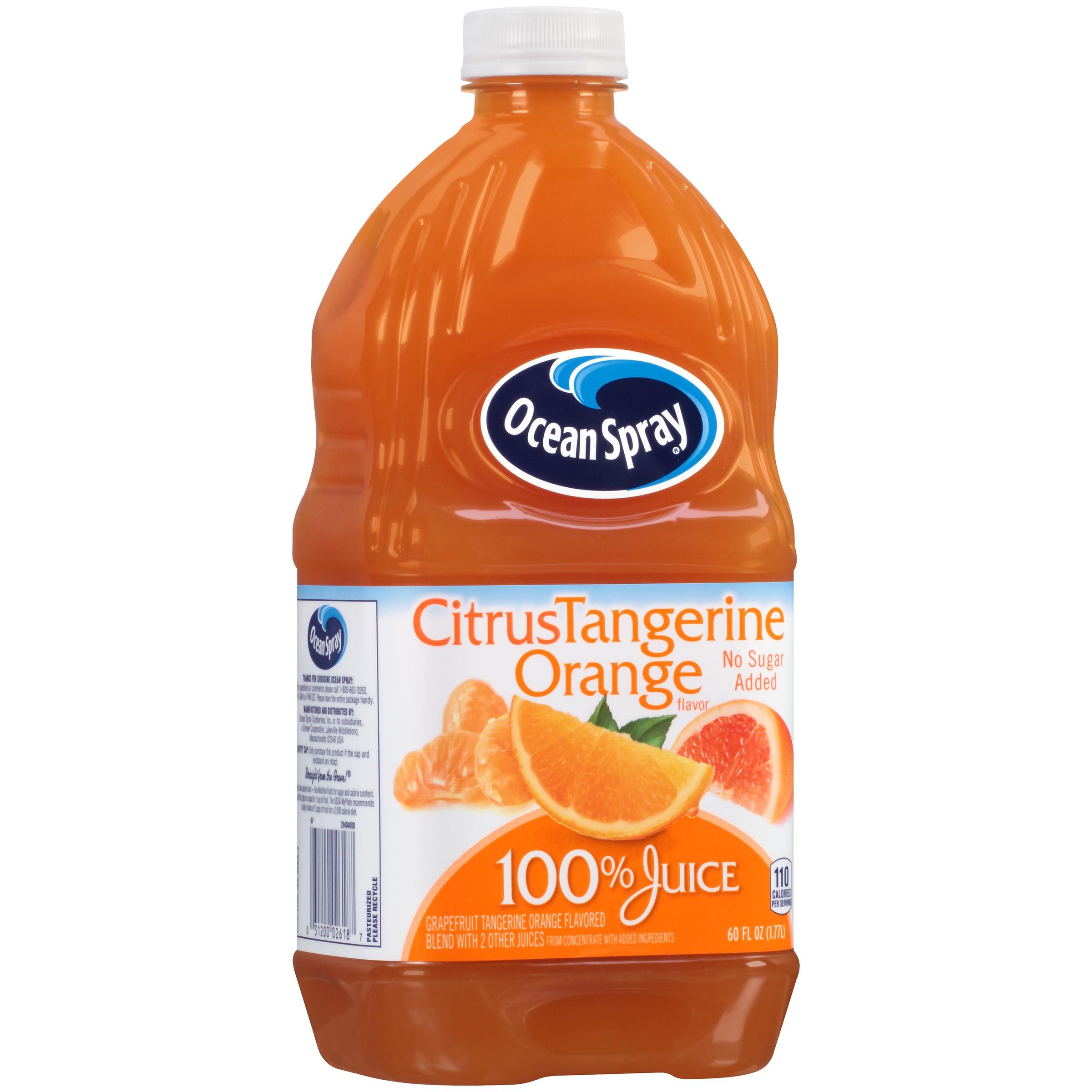 Ocean spray orange juice bottle
