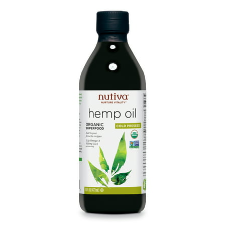 Nutiva Organic Cold-Pressed Unrefined Hemp Seed Oil, 16-Ounce