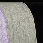 "Slate Gray Wired Fine Linen Burlap Craft Ribbon 2.5"" x 40 Yards"