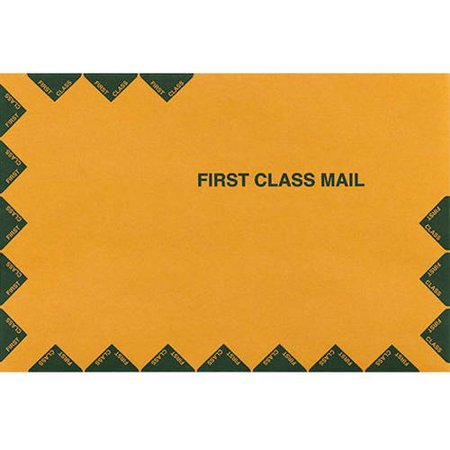 10 x 13 Open End Envelopes - 28lb. Brown Kraft, First Class (50 Qty.) First Class Window Envelopes