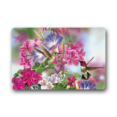 - WinHome Hummingbird Flowers Doormat Floor Mats Rugs Outdoors/Indoor Doormat Size 23.6x15.7 inches