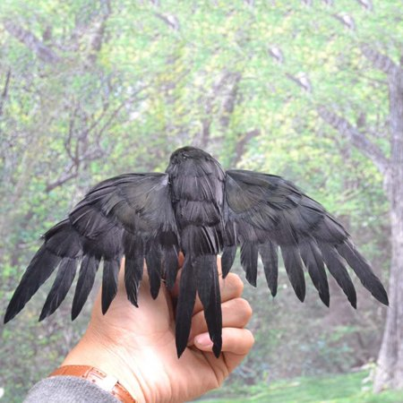 Lifelike Scary Raven Crow Prop Simulated Crow Realistic Bird Home Decoration Halloween - image 4 of 4