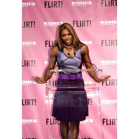 Serena Williams At The Press Conference For Serena Williams Guest Creator For Flirt Cosmetics Makeup Line The Lighthouse At Chelsea Piers Pier 61 New York Ny August 25 2005 Photo - Chelsea Smile Makeup