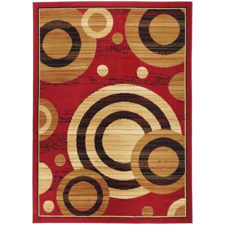 Antep Rugs Kashan King Collection GALAXY Geometric Polypropylene Indoor Area Rug Maroon and Beige 5