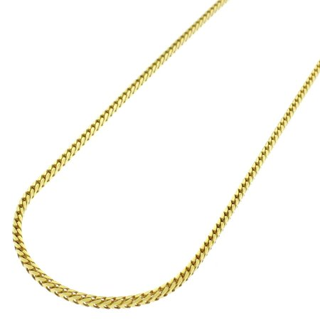 14k Yellow Gold 1.5mm Solid Franco Square Box Link Necklace Chain 16