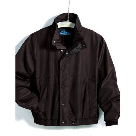 Tri-Mountain Back Country 6800 Nylon jacket with nylon lining, X-Large Tall, Black/Black
