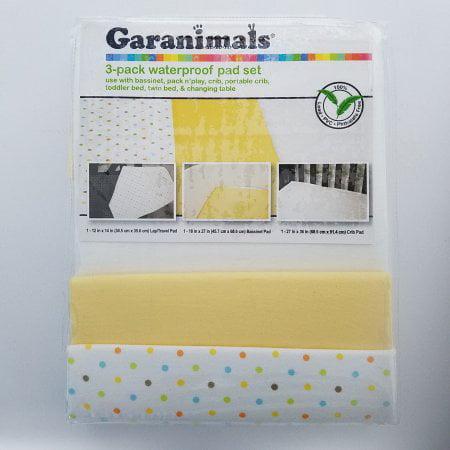 Garanimals 100 Cotton Waterproof Flannel Crib Pads
