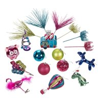 Holiday Time Cool Yule Variety Christmas Tree Ornaments, 28 Count, Limited Edition