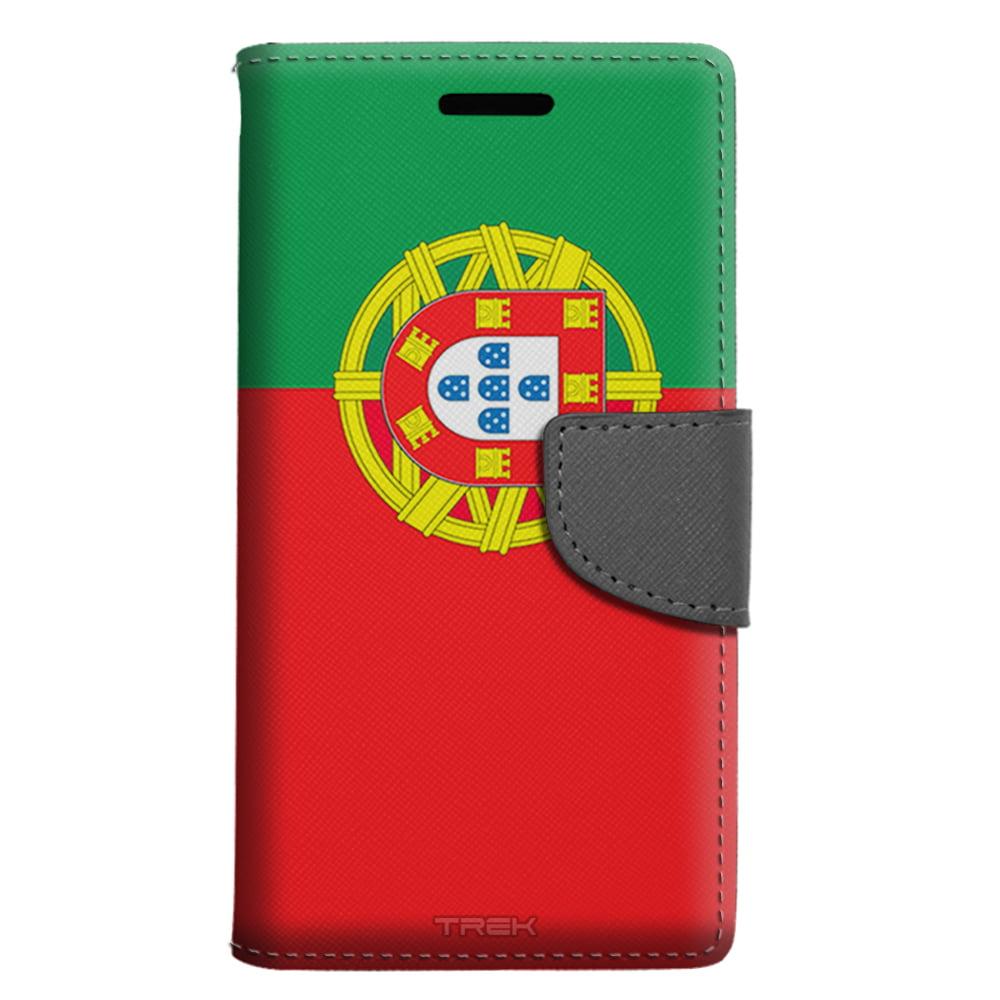 Samsung Galaxy S7 Wallet Case Portugal Flag Case by Trek Media Group
