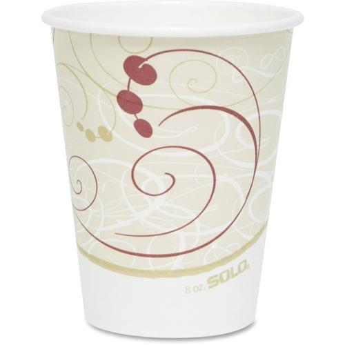 Solo Single-sided Poly Hot Cups - 8 oz - 50 / Pack - Beige - Poly, Paper - Hot Drink, Coffee, Tea, Cocoa