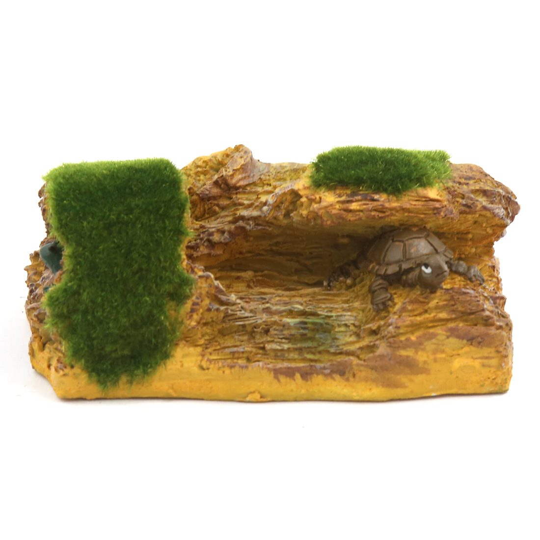 Aqua Landscape Artificial Trunk Cave Mountain Decoration 11x8x5cm