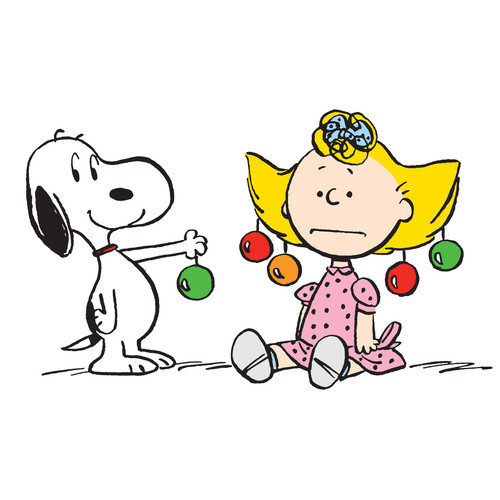 Marmont Hill Peanuts Snoopy Sally Ornaments by Charles M. Schulz Painting Print on Wrapped Canvas