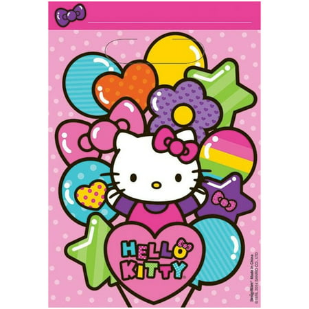 Hello Kitty Bag Pack (Hello Kitty Rainbow Loot Favor Bags (8 Pack) - Party)
