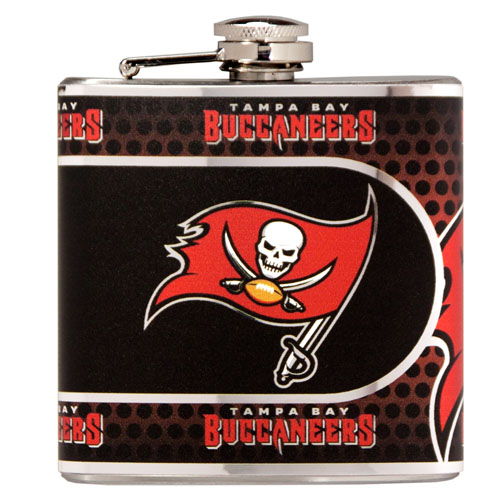 Great American Products Tampa Bay Buccaneers Flask Stainless Steel 6 oz. Flask