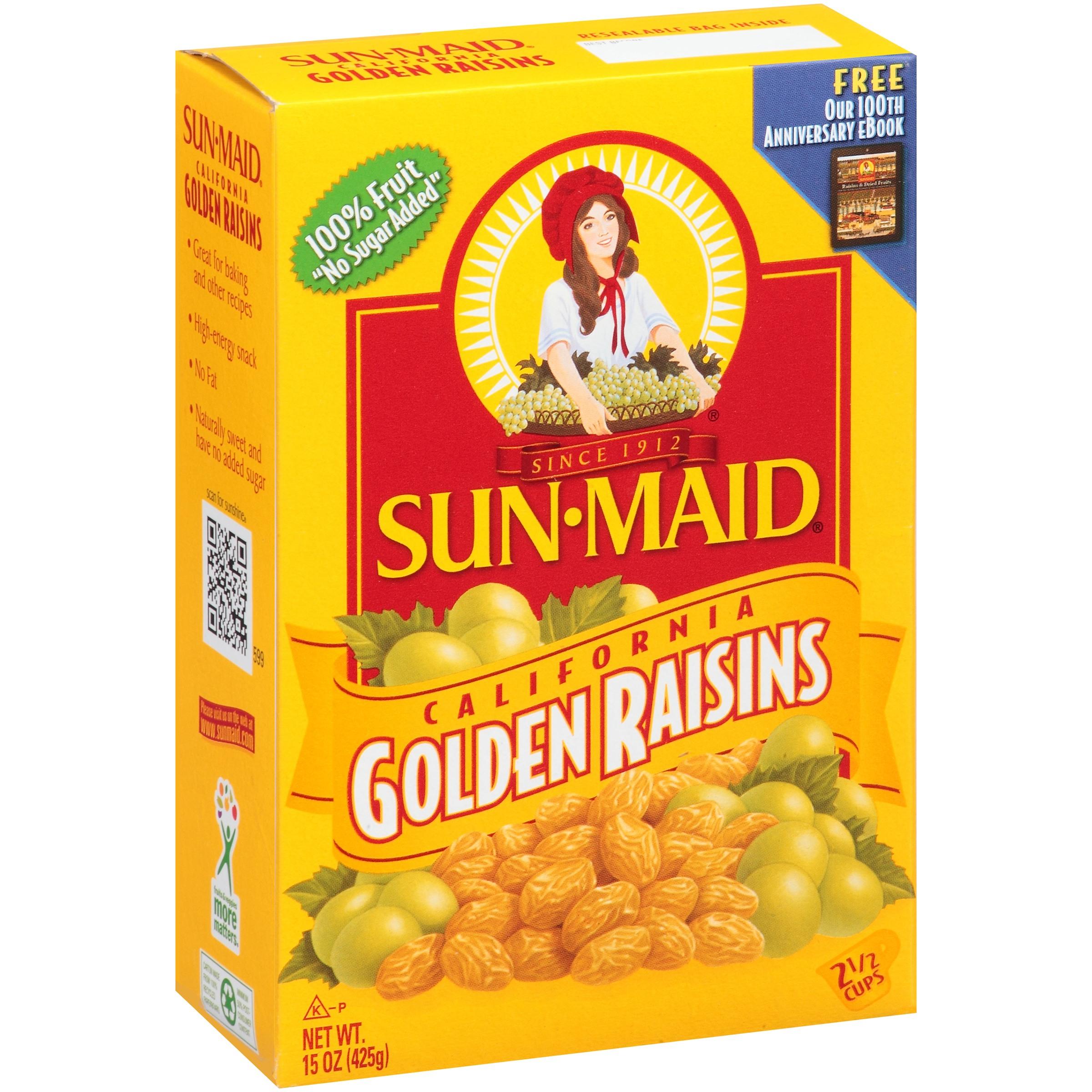 Sun-Maid California Golden Raisins, 15.0 Oz