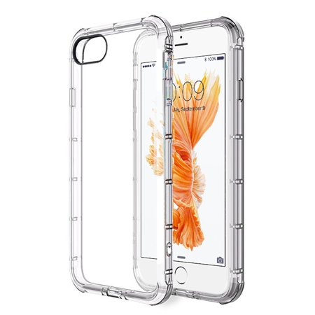 2 Pcs Cell Phone Cases Cover For iPhone 8 /iPhone 7 Transparent Anti-Shock Tpu Cases - Clear Color Cell Phone Cover Case