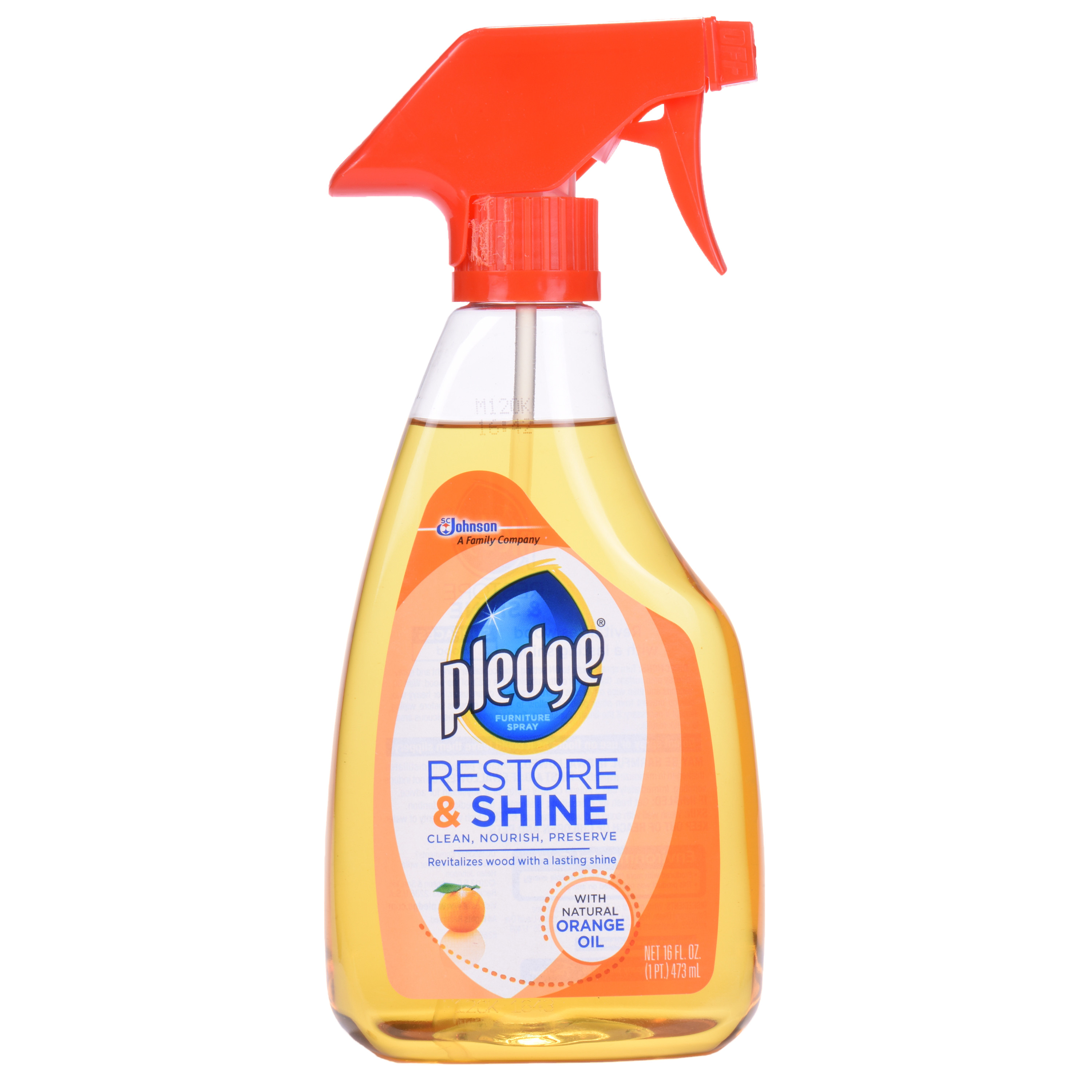 Pledge Restore & Shine with Orange Oil 16 Ounces.