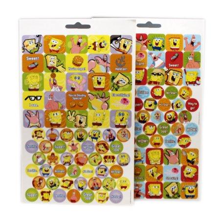 Spongebob Sticker Sheet (Spongebob Squarepants Stickerland Assorted Sticker Pages (2 Sheets))