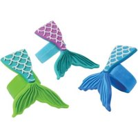US Toy JA872 Mermaid Tail Rubber Rings - Pack of 12
