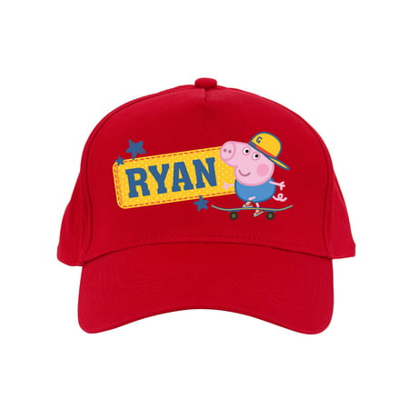 Personalized Peppa Pig Kids Red Baseball Cap](Personalized Baseball Caps)