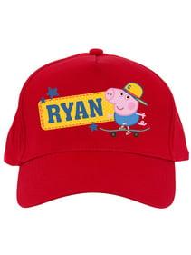 Personalized Peppa Pig Kids Red Baseball Cap ae85abfb3348