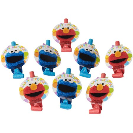 Elmo Party Blowers, 8pk, Party Supplies