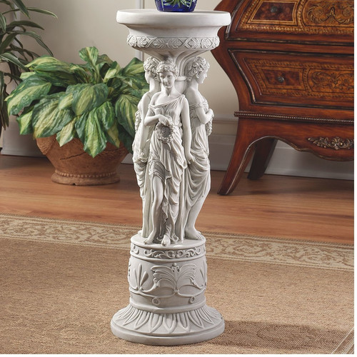 Design Toscano Chatsworth Manor Neoclassical Pedestal Plant Stand by Design Toscano