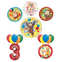 The Ultimate 16pc Curious George 3rd birthday party Supplies