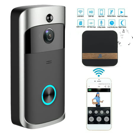 Wireless Battery Video Doorbell Home Security WiFi Smartphone Control Door Bell Camera - image 1 of 12