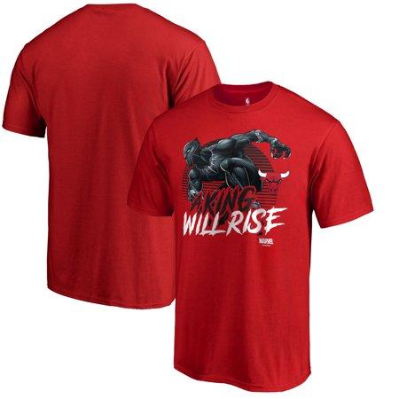 Chicago Bulls Fanatics Branded NBA Marvel Wakanda Forever T-Shirt - (Chicago Bulls Nba Table)