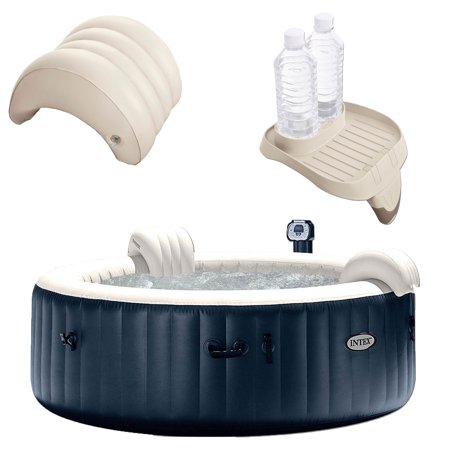 Intex PureSpa 6 Person Outdoor Hot Tub with Headrest, Cup Holder and Drink Tray for $<!---->