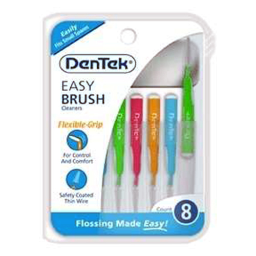 Dentek Easy Brush Cleaners For Plaque Removal, 8 Ea, 2 Pack