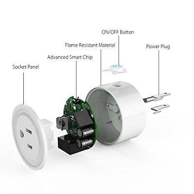 TanTan Smart Plug 2 Pack WiFi Enabled Mini SwitchWalmartpatible with Alexa  & Google