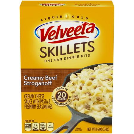 Velveeta Skillets Creamy Beef Stroganoff One Pan Dinner Kit 11.6 oz. Box
