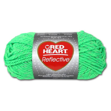 C C Red Heart Reflective Yarn 3 5Oz Neon Green