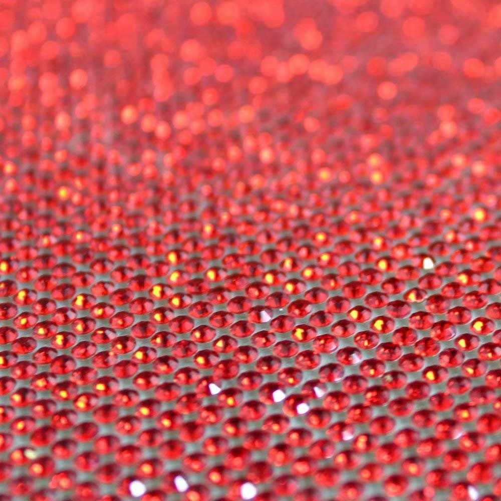 Self-Adhesive Sparkling Round Rhinestone Stickers Sheet,for Arts & Crafts,DIY Event Decoration,Gift Decoration,Phone Decoration, car Decoration,Embellishment Tablet 24x40cm(9.45x15.75 inch)-Red