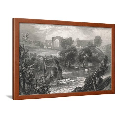 English Country Scenes (An English Country Scene Framed Print Wall Art )