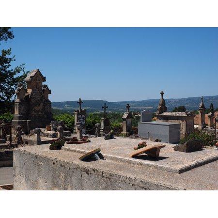 Canvas Print Cemetery Gravestone Roussillon Graves Old Cemetery Stretched Canvas 10 x 14](Gravestones For Sale)
