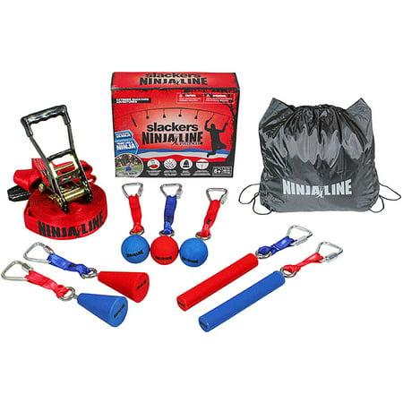 Ninjaline Pro 30Ft Kit W/7 Hanging Obstacles