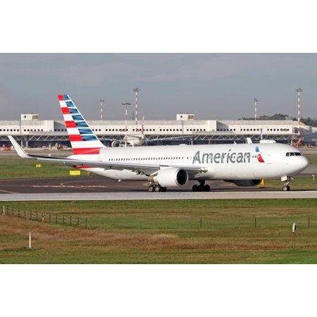 An American Airlines Boeing 767 at Milano Malpensa Airport Italy Poster Print (American Airlines 767)