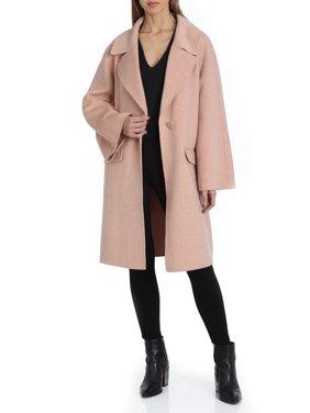 Badgley Mischka Madi Double-Face Wool Coat