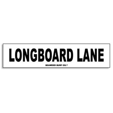 Paradise Surf Sign - Seaweed Surf Co AA56 4X18 Aluminum Sign Longboard Ln