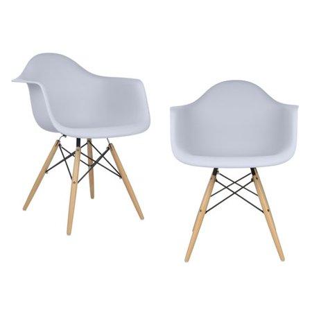 Marvelous Emodern Decor Mid Century Modern Scandinavian Arm Chair Set Of 2 Cjindustries Chair Design For Home Cjindustriesco