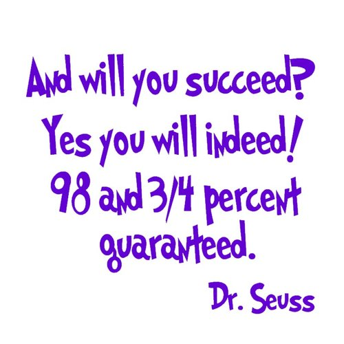 VWAQ And Will You Succeed? Yes You Will Indeed! Dr. Seuss Wall Decal