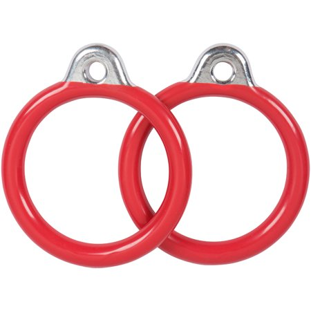 Swing Set Stuff Inc. Commercial Round Trapeze Rings (Red)